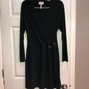 Laundry by Shelli Segal long sleeved black dress L